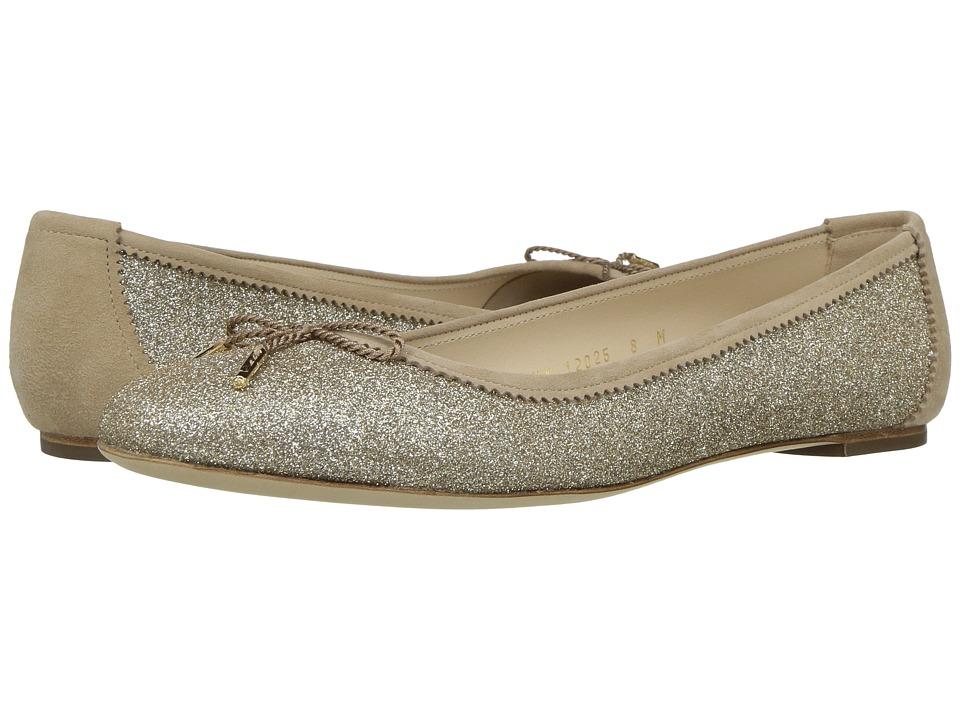 Salvatore Ferragamo - Matte Glitter Ballerina Flat (Panna Matte Glitter) Women's Flat Shoes