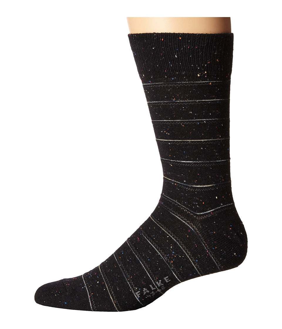 Falke - Tweed Stripe Sock (Black) Men's Crew Cut Socks Shoes
