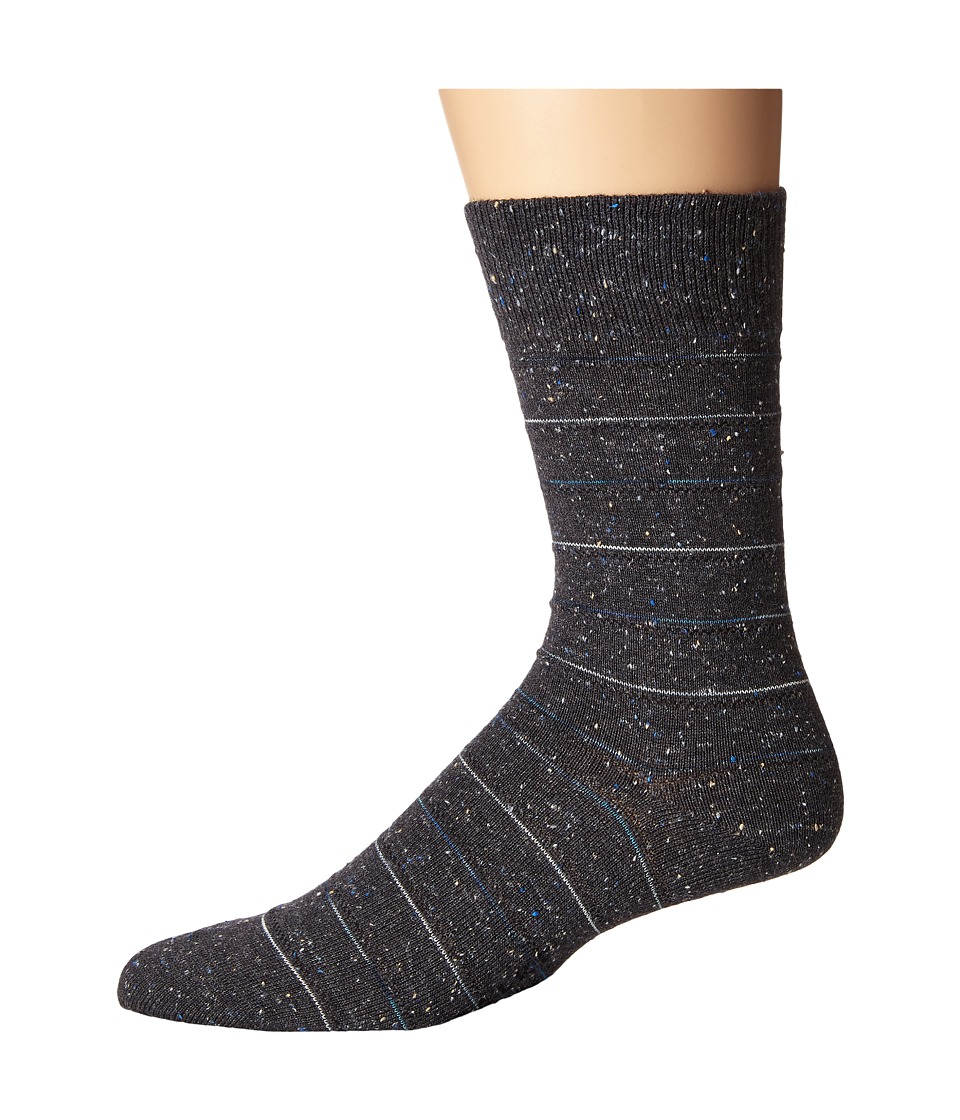 Falke - Tweed Stripe Sock (Anthracite Melange) Men's Crew Cut Socks Shoes