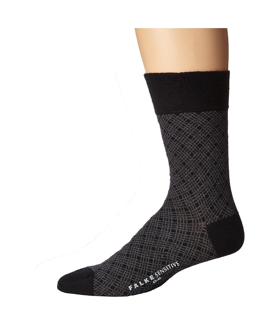 Falke - Sensitive Mineral Tie Sock (Black) Men's Crew Cut Socks Shoes