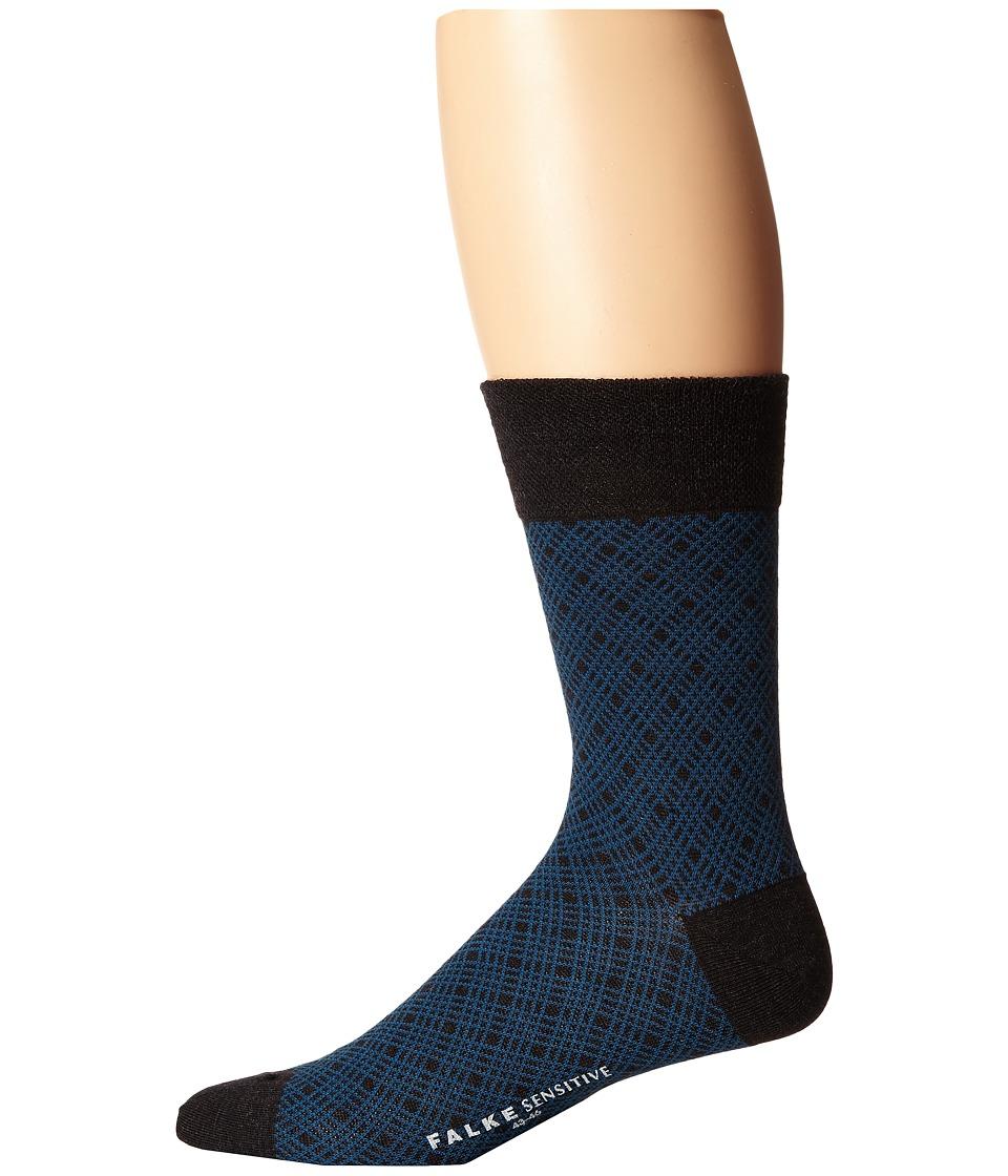 Falke - Sensitive Mineral Tie Sock (Anthracite Melange) Men's Crew Cut Socks Shoes
