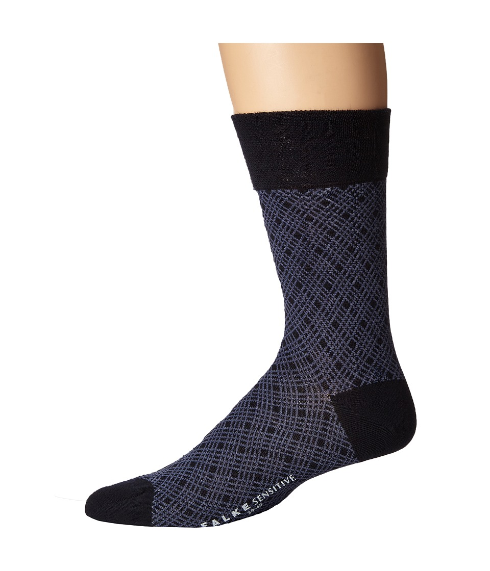 Falke - Sensitive Mineral Tie Sock (Dark Navy) Men's Crew Cut Socks Shoes