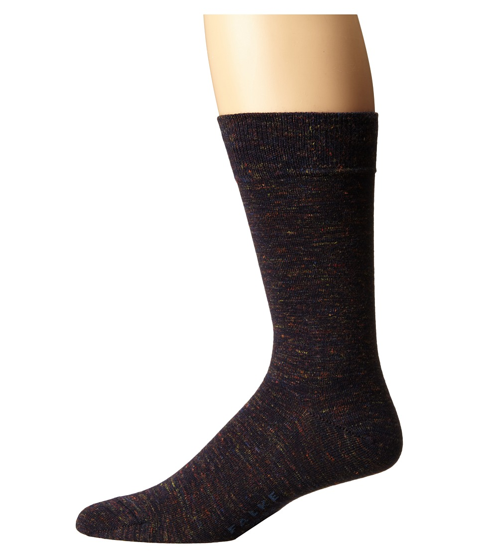 Falke - Tweed Print Sock (Dark Navy) Men's Crew Cut Socks Shoes