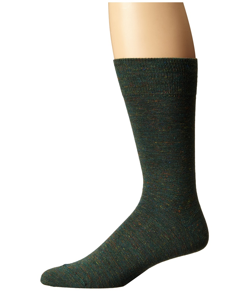 Falke - Tweed Print Sock (Malachite) Men's Crew Cut Socks Shoes