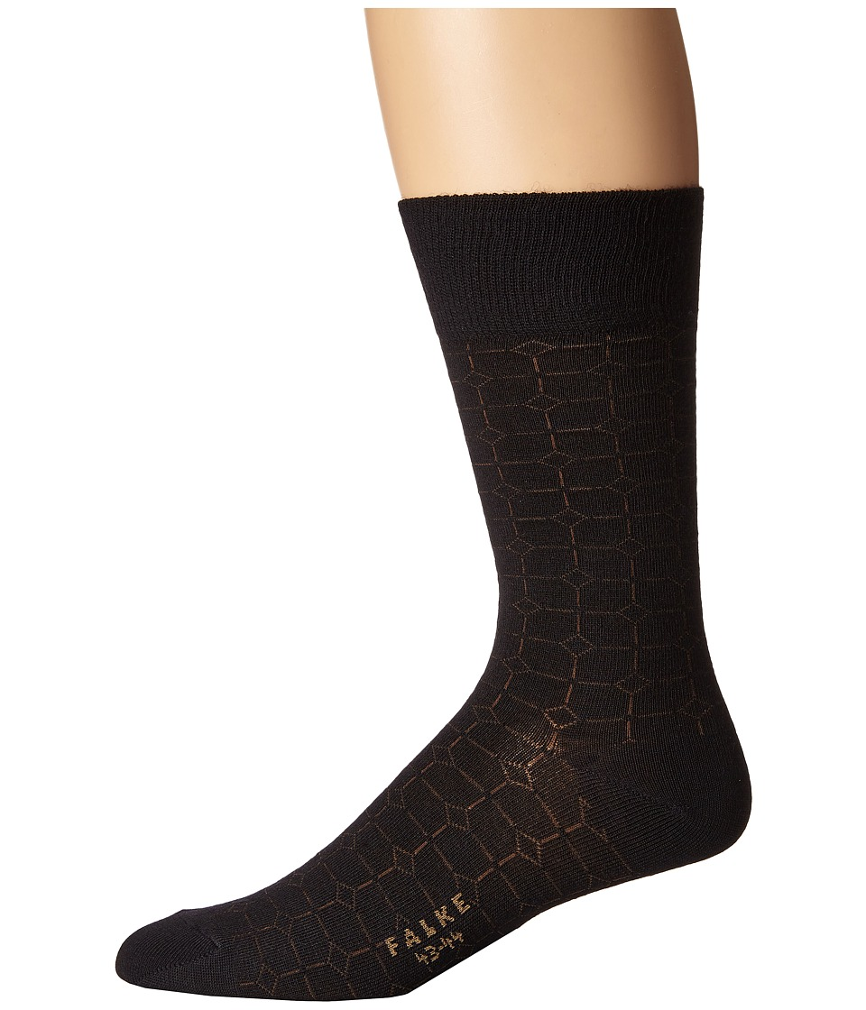 Falke - Gemstone Tie Sock (Black) Men's Crew Cut Socks Shoes