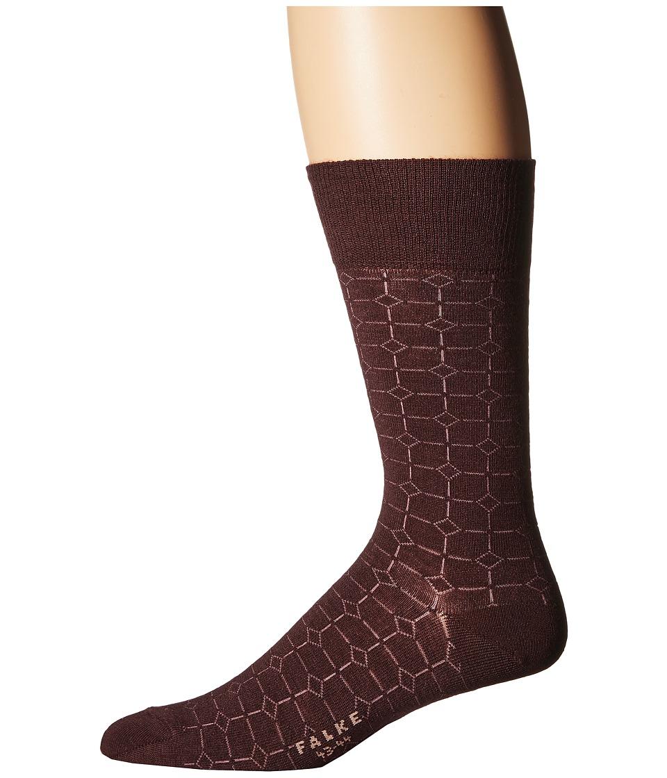 Falke - Gemstone Tie Sock (Garnet) Men's Crew Cut Socks Shoes