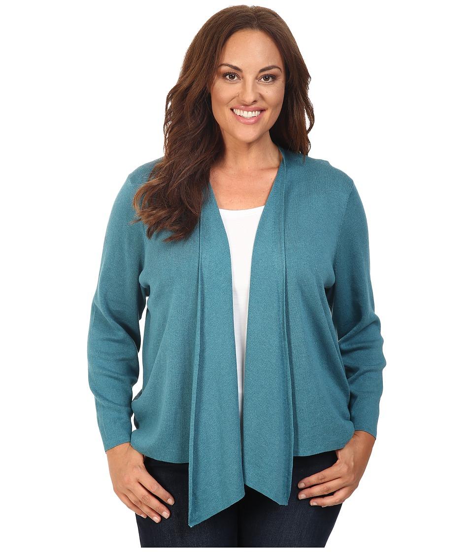 NIC+ZOE - Plus Size 4-Way Cardy (Deep Sea) Women's Sweater
