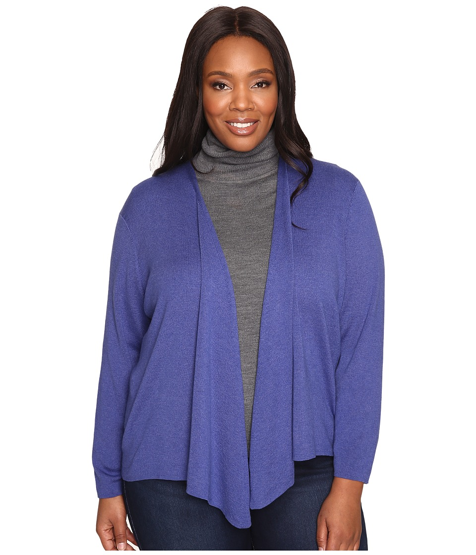 NIC+ZOE - Plus Size 4-Way Cardy (Wild Blue) Women's Sweater