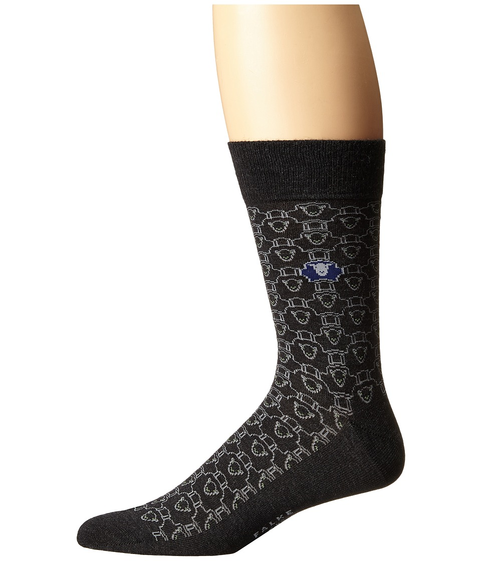 Falke - Dolly Sock (Anthracite Melange) Men's Crew Cut Socks Shoes