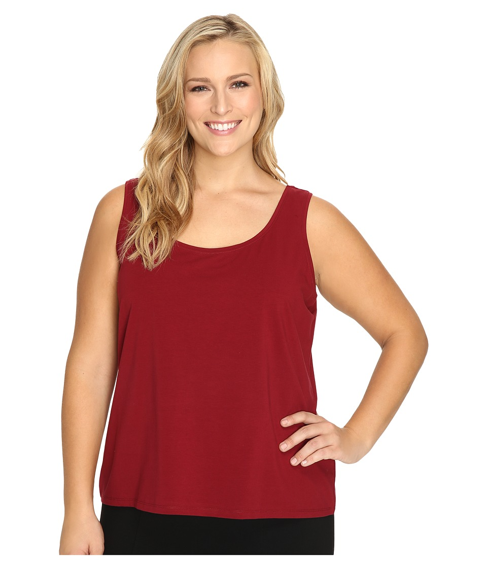 NIC+ZOE - Plus Size Perfect Scoop Tank (Oxide) Women's Sleeveless