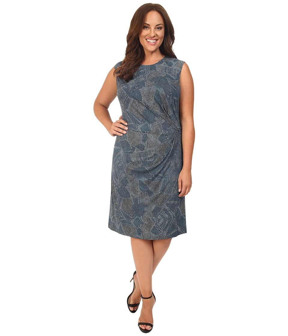 NIC+ZOE - Plus Size Broken Pottery Twist Dress (Multi) Women's Dress