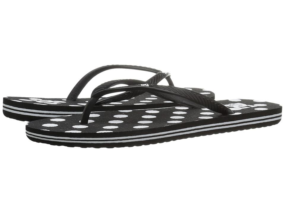DC - Spray Graffik (Black/White Print) Women's Sandals