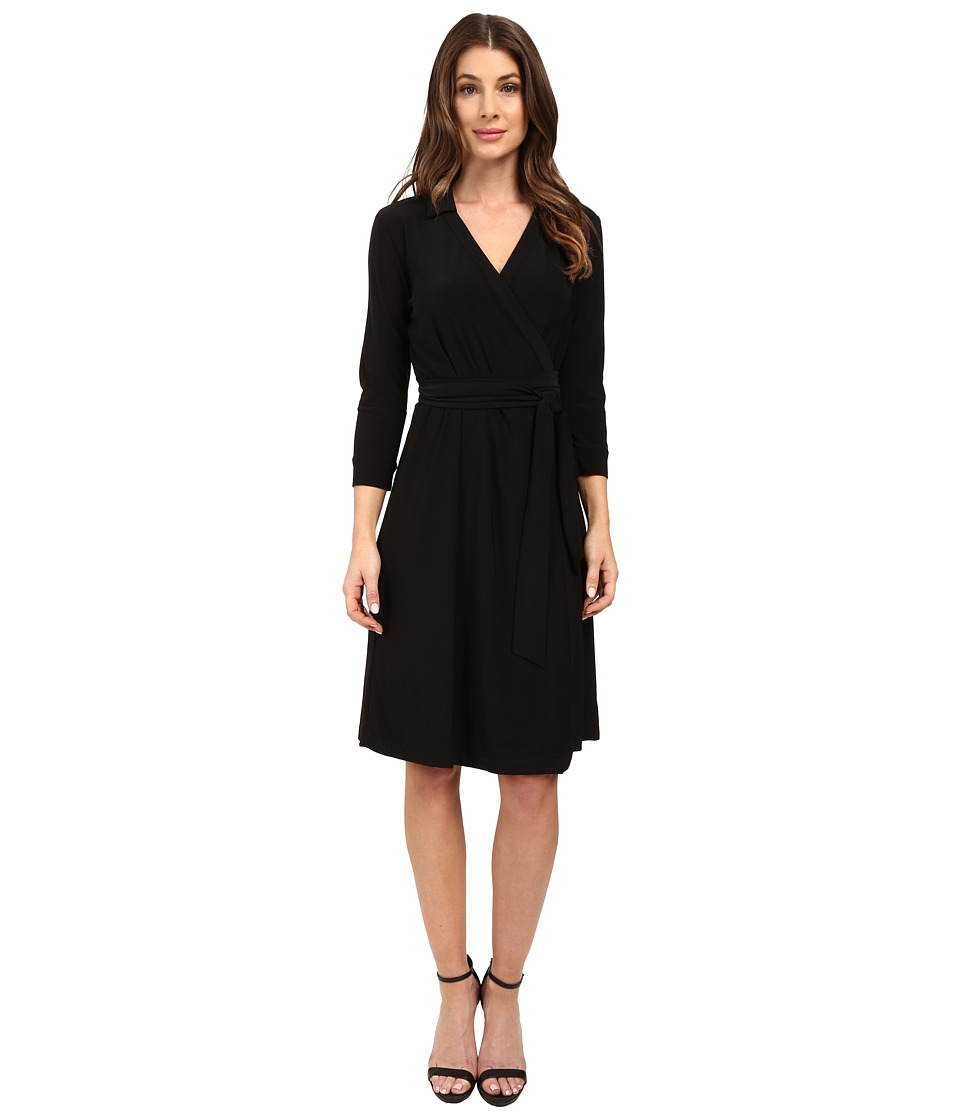 NIC+ZOE - Luxe Jersey Wrap Dress (Black Onyx) Women's Dress