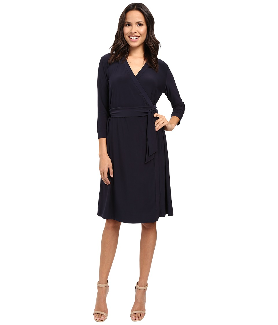 NIC+ZOE Luxe Jersey Wrap Dress (Midnight) Women