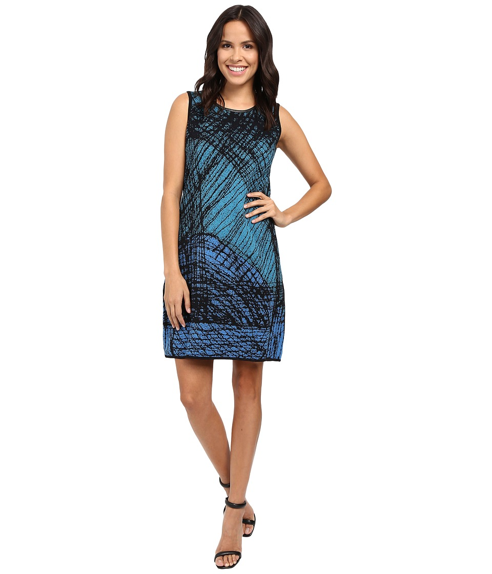 NIC+ZOE - Scribble Knit Dress (Multi) Women's Dress