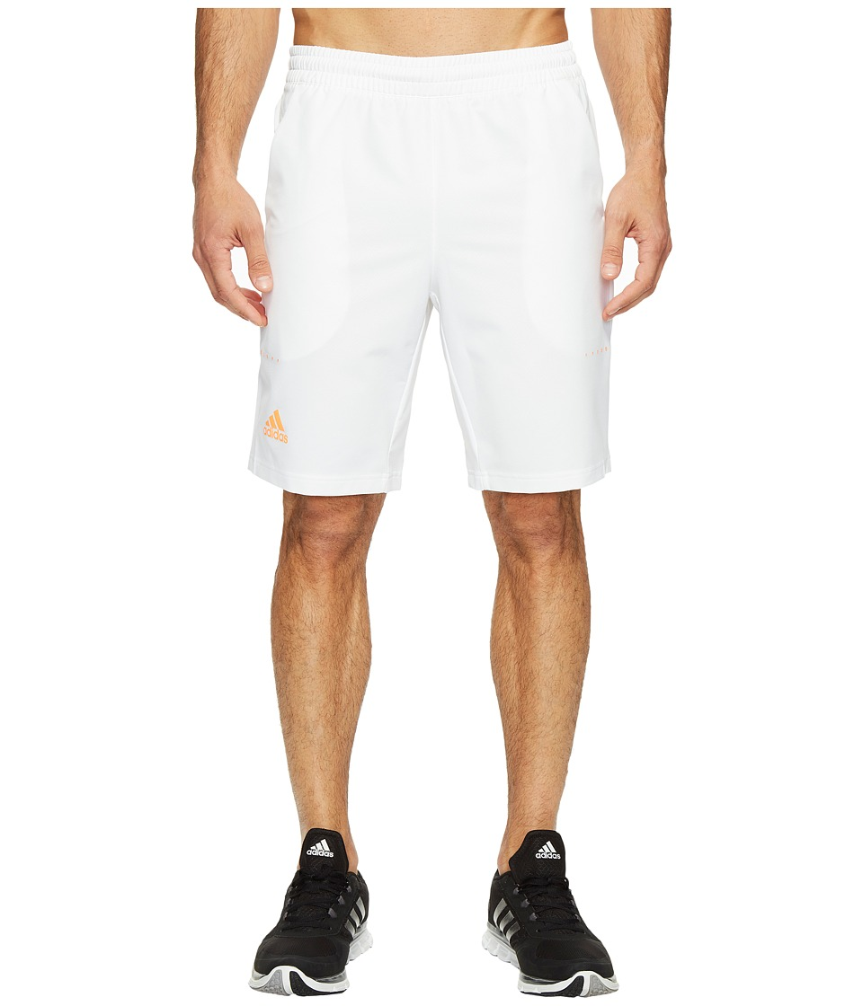 adidas - Barricade Bermuda Shorts (White/Glow Orange) Men's Shorts
