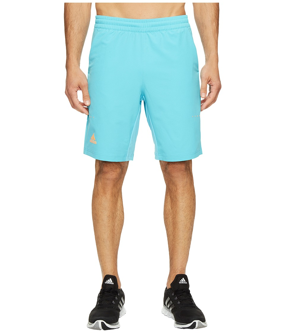 adidas - Barricade Bermuda Shorts (Samba Blue/Glow Orange) Men's Shorts