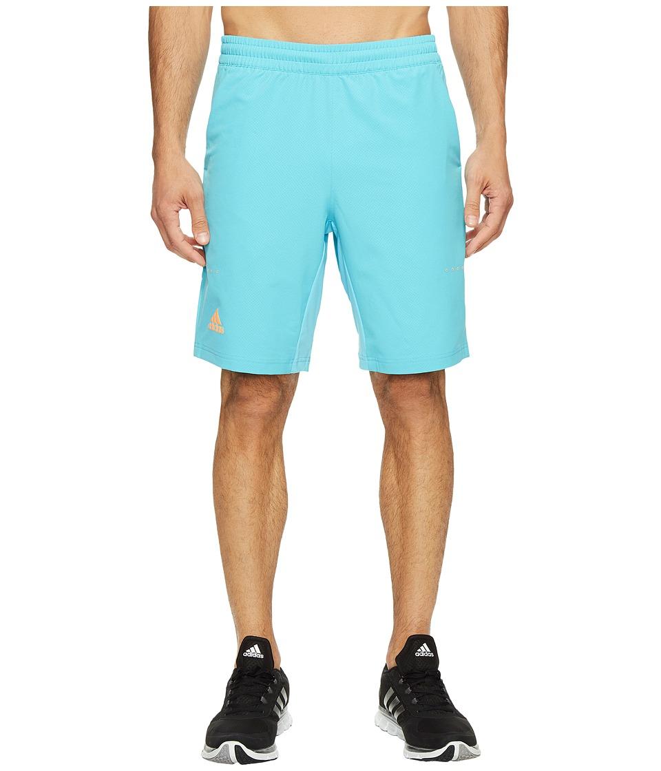 adidas - Barricade Bermuda Shorts (Samba Blue/Glow Orange) Men's Shorts