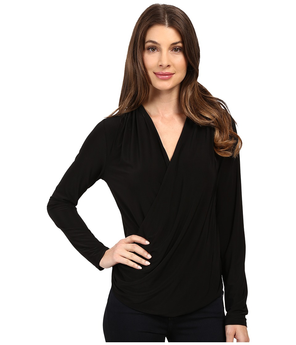 NIC+ZOE - Feel Good Sleeved Top (Black Onyx) Women's Clothing