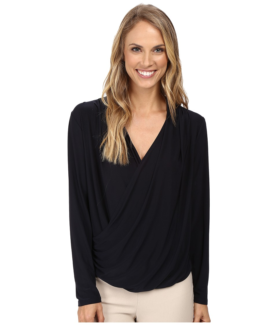NIC+ZOE - Feel Good Sleeved Top (Midnight) Women's Clothing