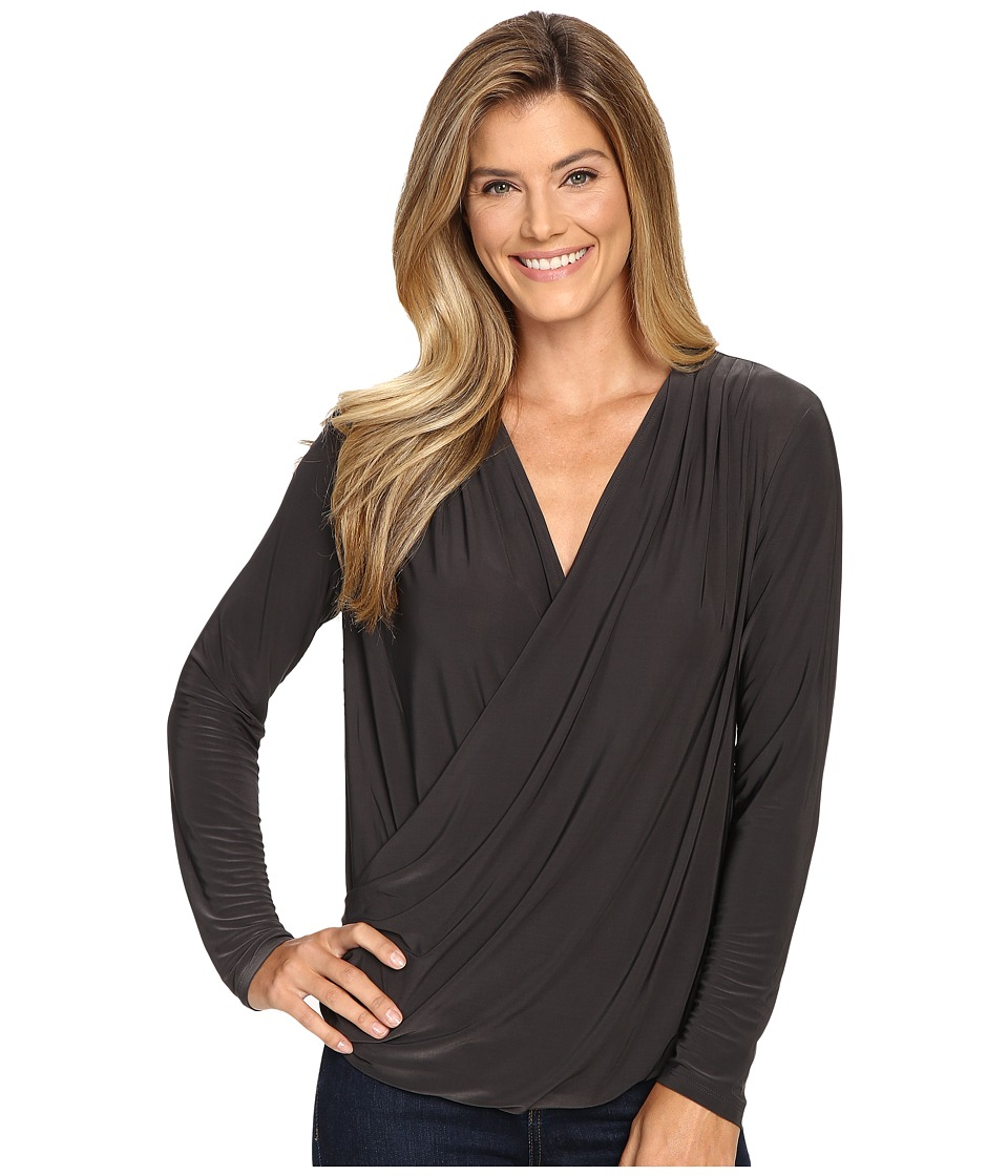NIC+ZOE - Feel Good Sleeved Top (Phantom) Women's Clothing