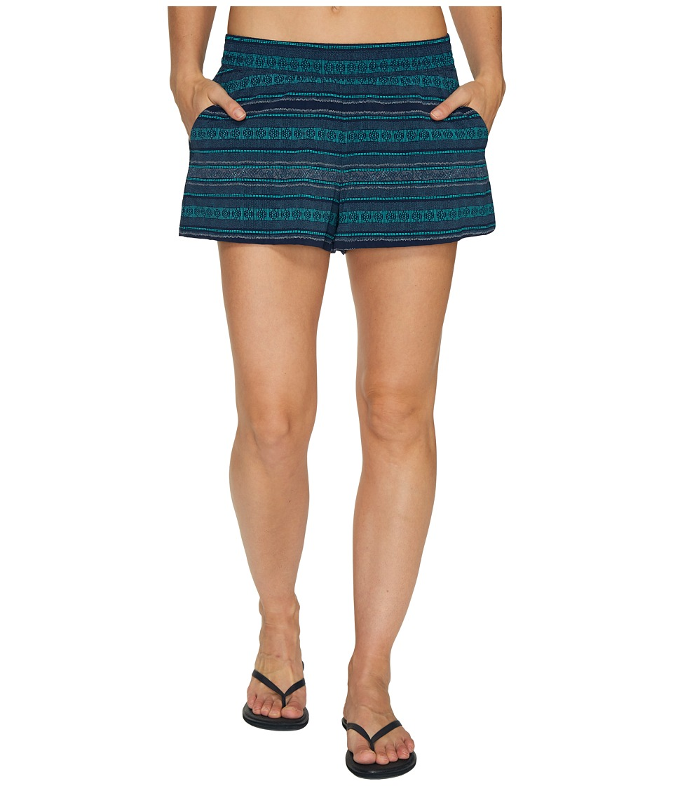 Toad&Co - Sunkissed Pull-On Shorts (Deep Navy Bird Print) Women's Shorts