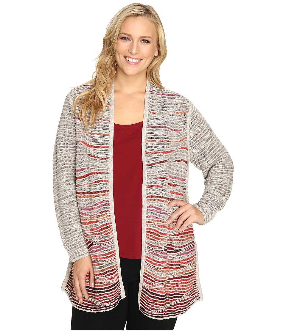 NIC+ZOE - Plus Size Harvest Cardy (Multi) Women's Sweater