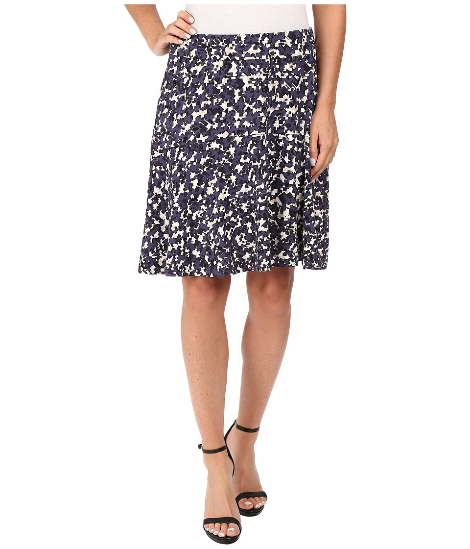 NIC+ZOE - Fractured Squares Wink Skirt (Multi) Women's Skirt