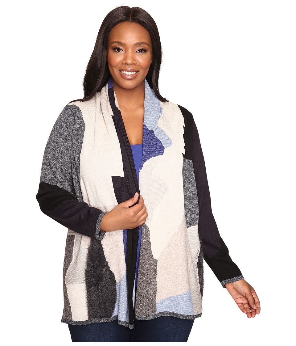 NIC+ZOE Plus Size Overlands Cardy (Multi) Women