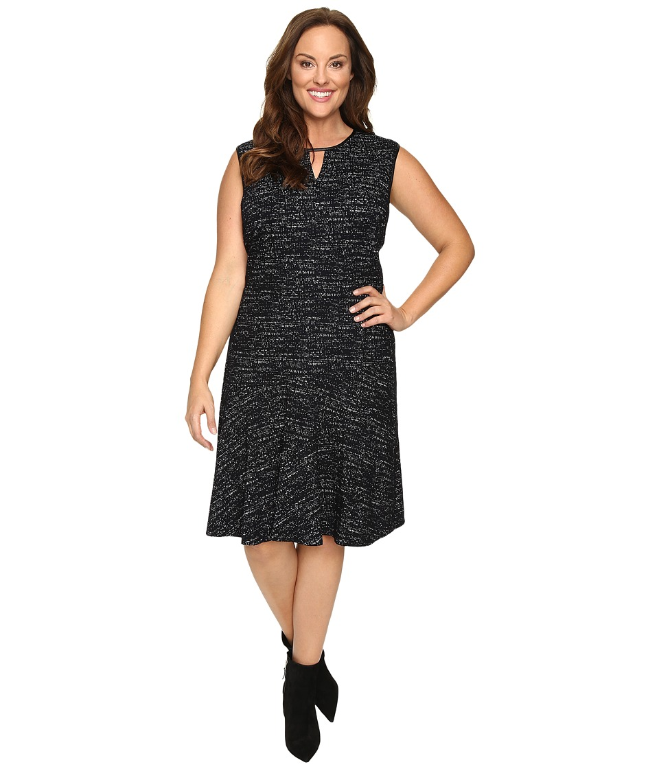 NIC+ZOE - Plus Size Tweed Jacquard Dress (Multi) Women's Dress