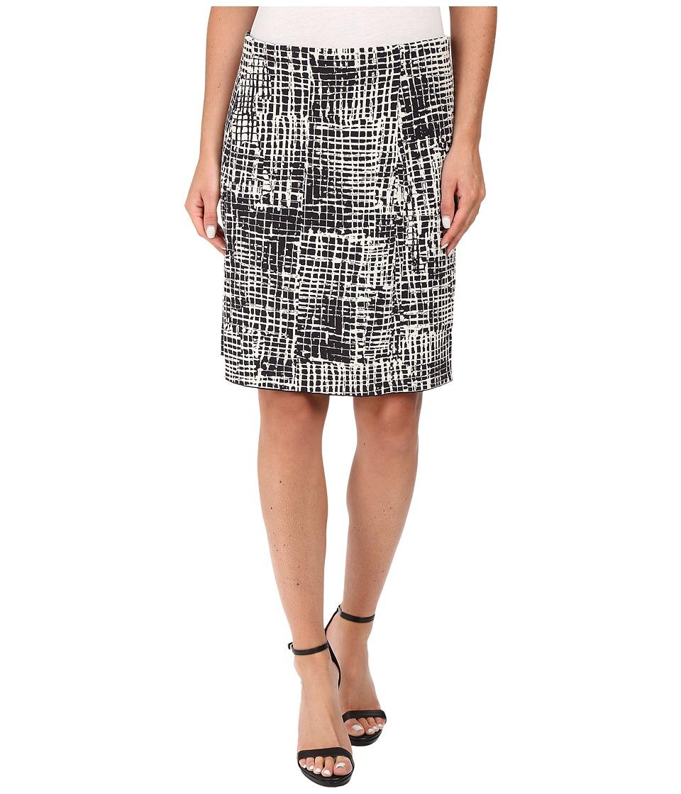 NIC+ZOE Brushstroke Pencil Skirt (Multi) Women