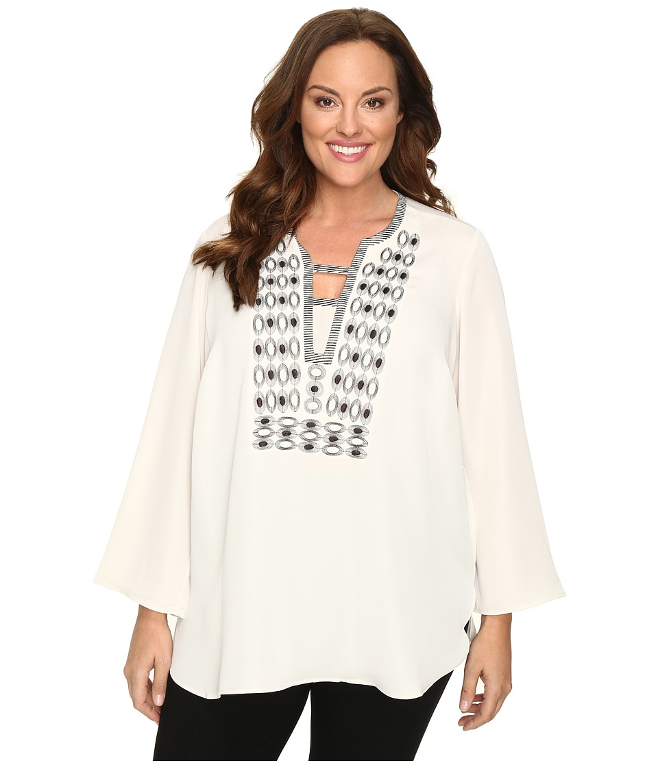 NIC+ZOE - Plus Size Solstice Top (Rainy Day) Women's Clothing