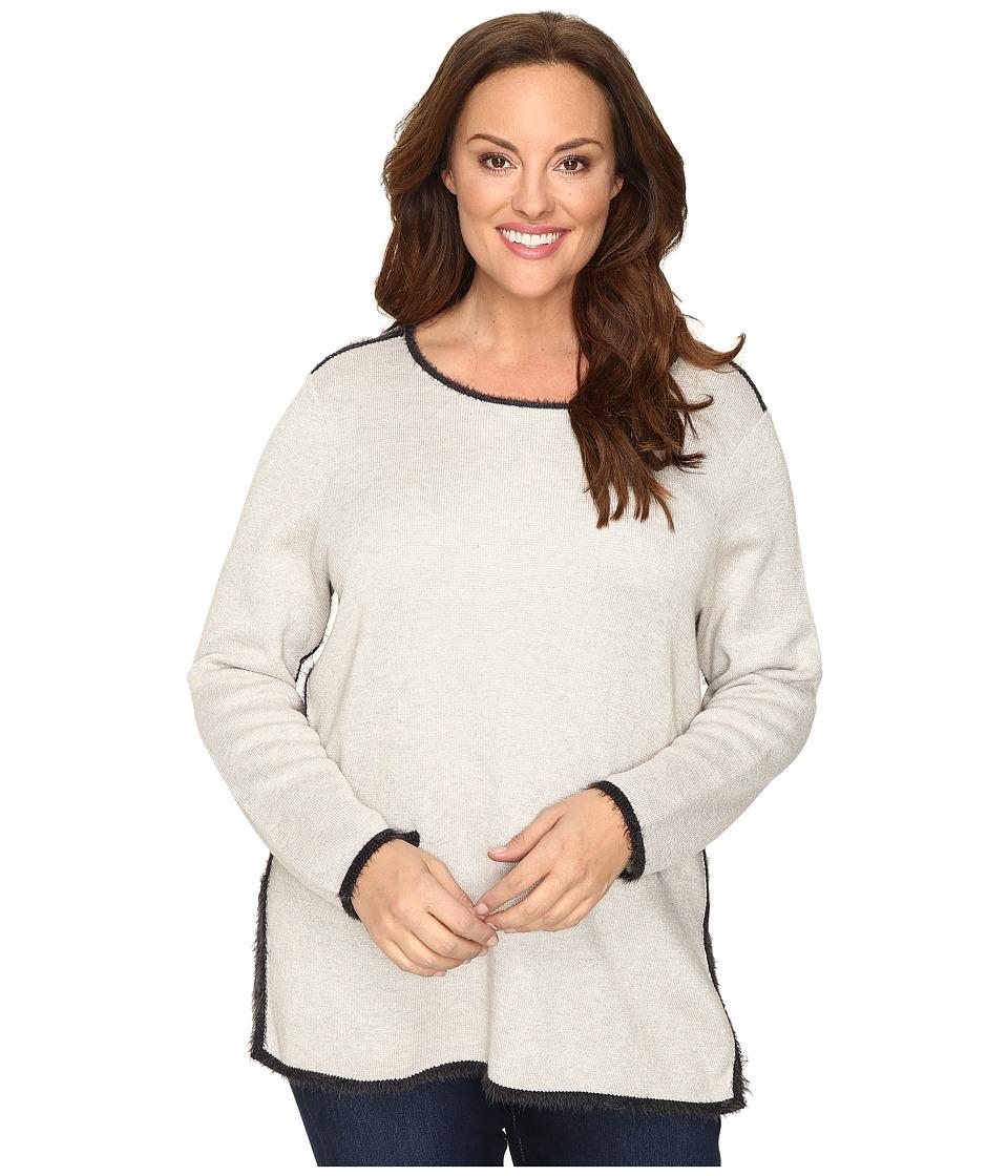 NIC+ZOE - Plus Size Modern Pocket Top (Rainy Day) Women's Clothing