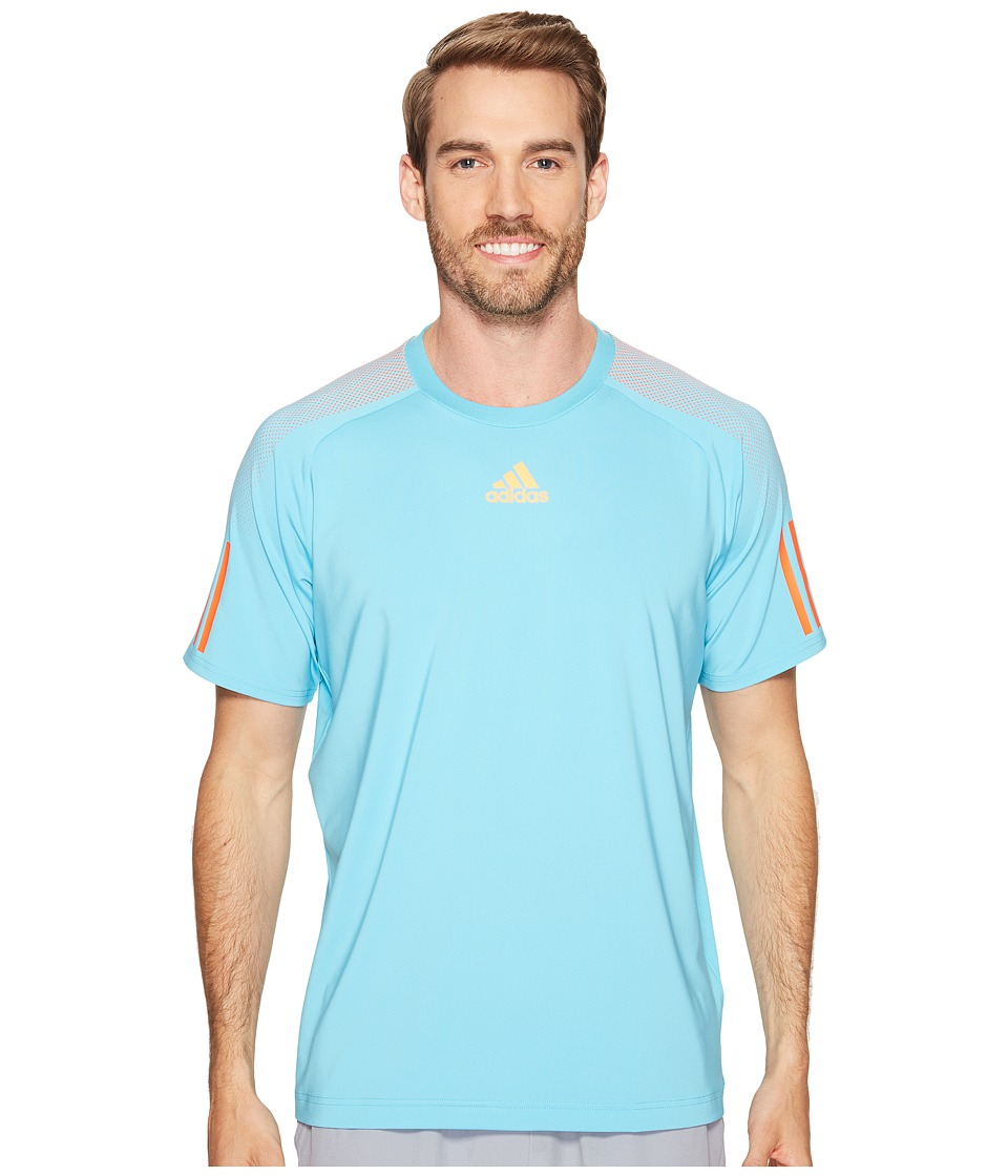 adidas - Barricade Tee (Samba Blue/Glow Orange) Men's T Shirt