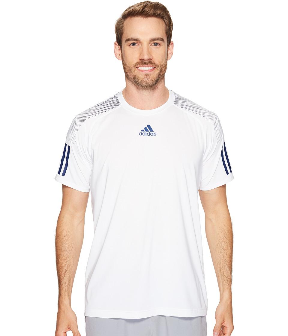 adidas - Barricade Tee (White/Mystery Blue) Men's T Shirt