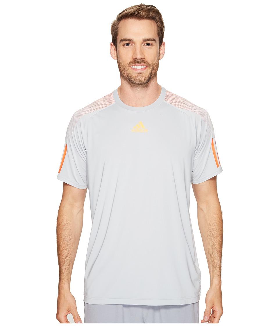 adidas Barricade Tee (Clear Onix/Glow Orange) Men