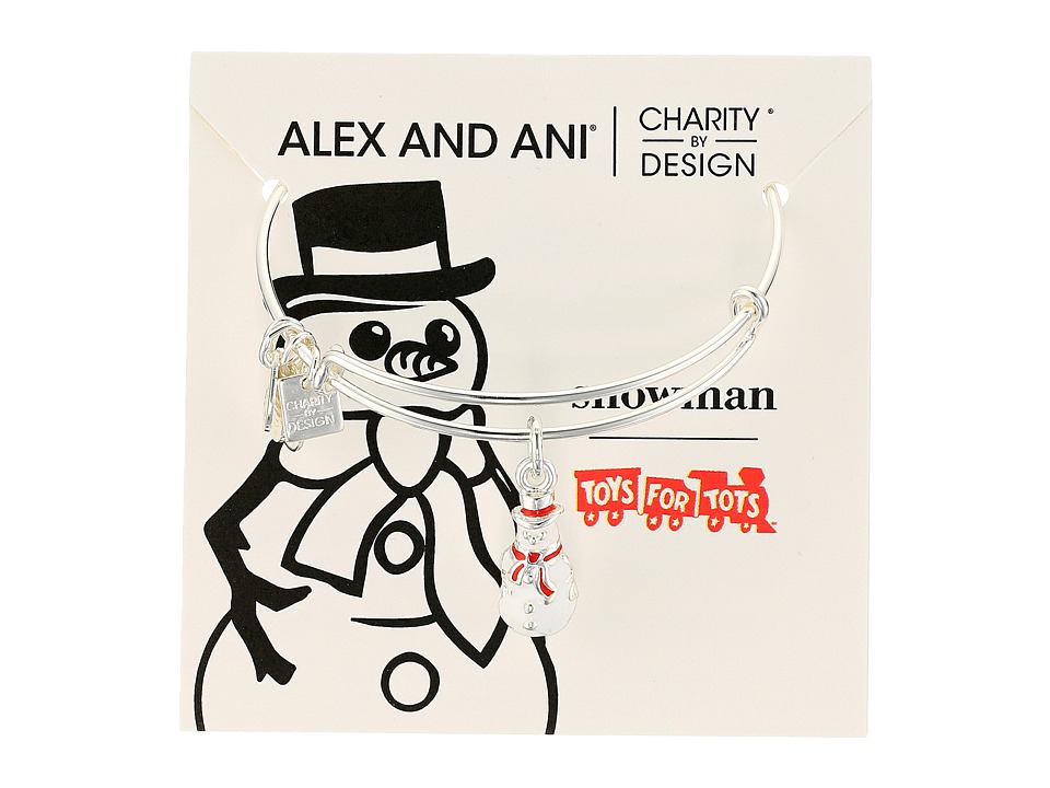 Alex and Ani - Charity By Design Snowman II (Shiny Silver) Bracelet
