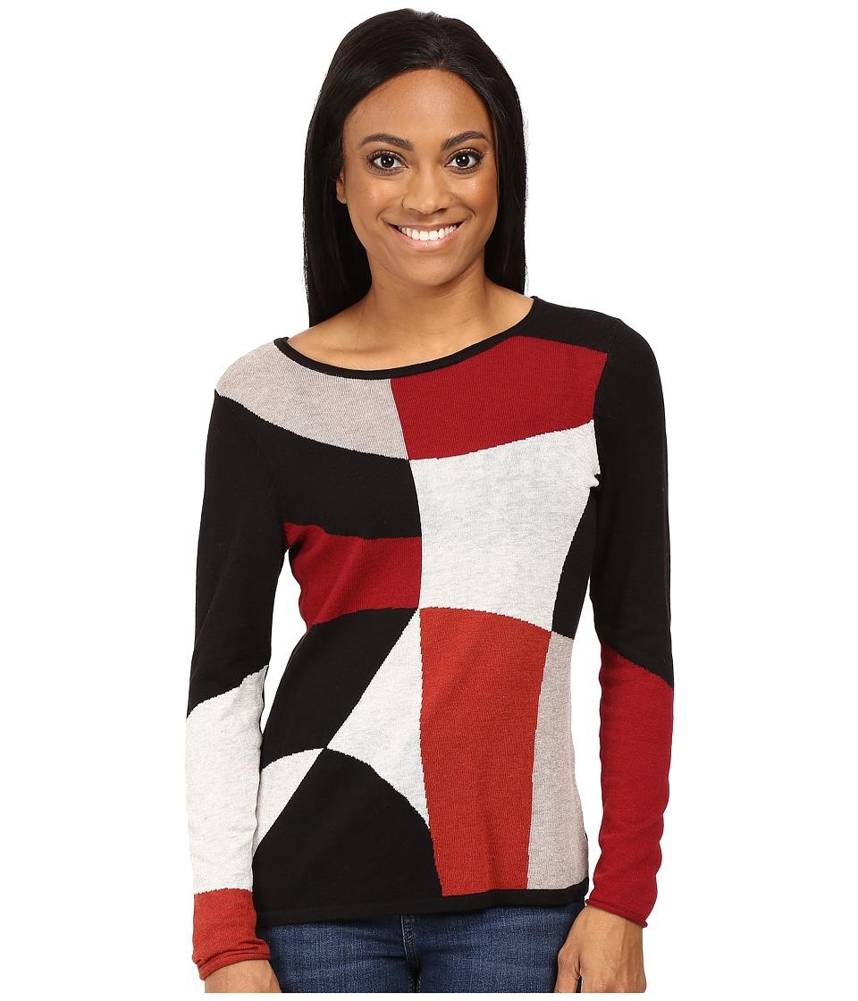 NIC+ZOE - Petite Rubied Intarsia Top (Multi) Women's Sweater