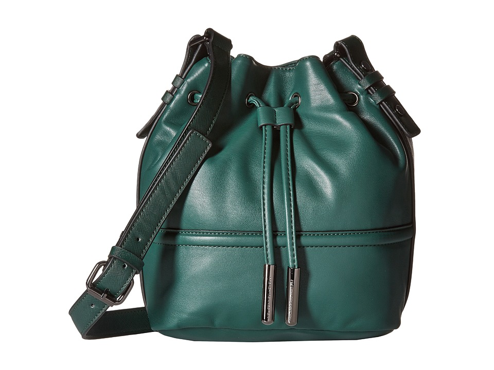 French Connection - Iris Drawstring (Holly Green) Drawstring Handbags