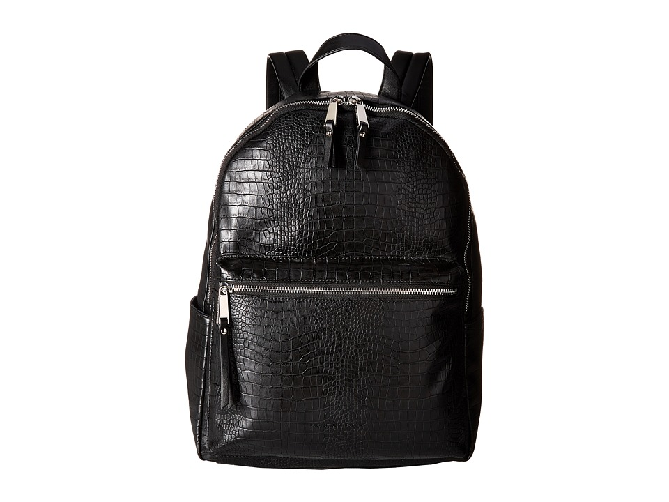 French Connection - Perry Croco Backpack (Black) Backpack Bags