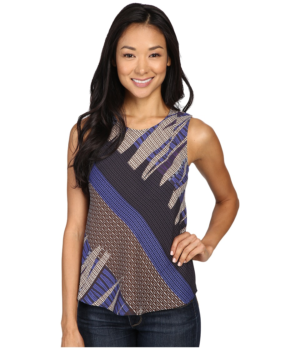 NIC+ZOE - Petite Arctic Lines Tank Top (Multi) Women's Sleeveless