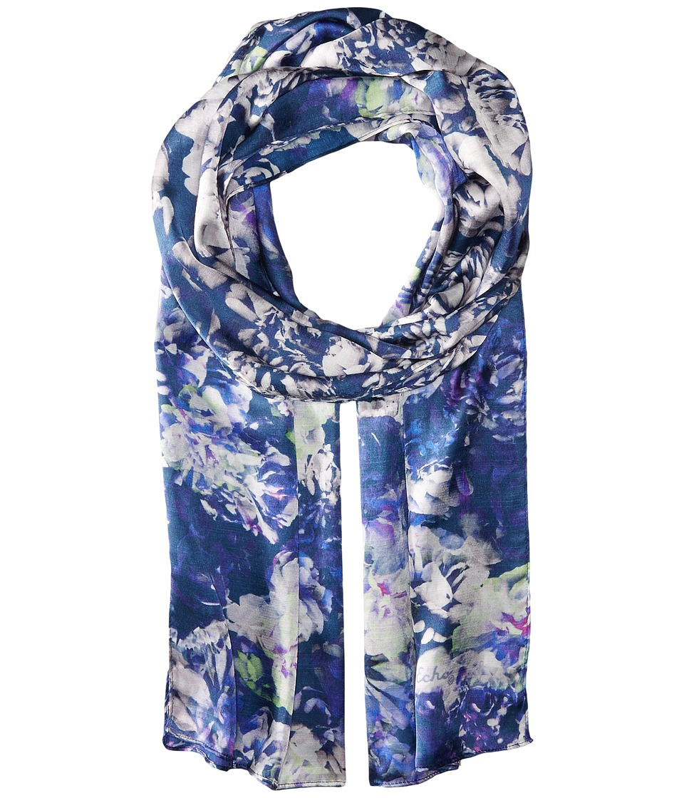 Echo Design - Bed of Roses Oblong (Navy) Scarves