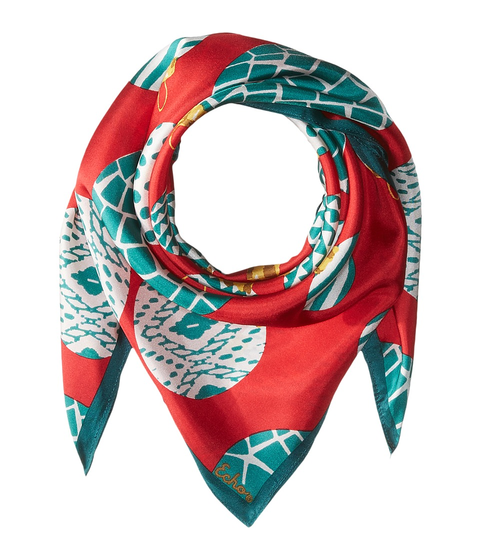 Echo Design - Merry Go Round Silk Square (Ruby) Scarves