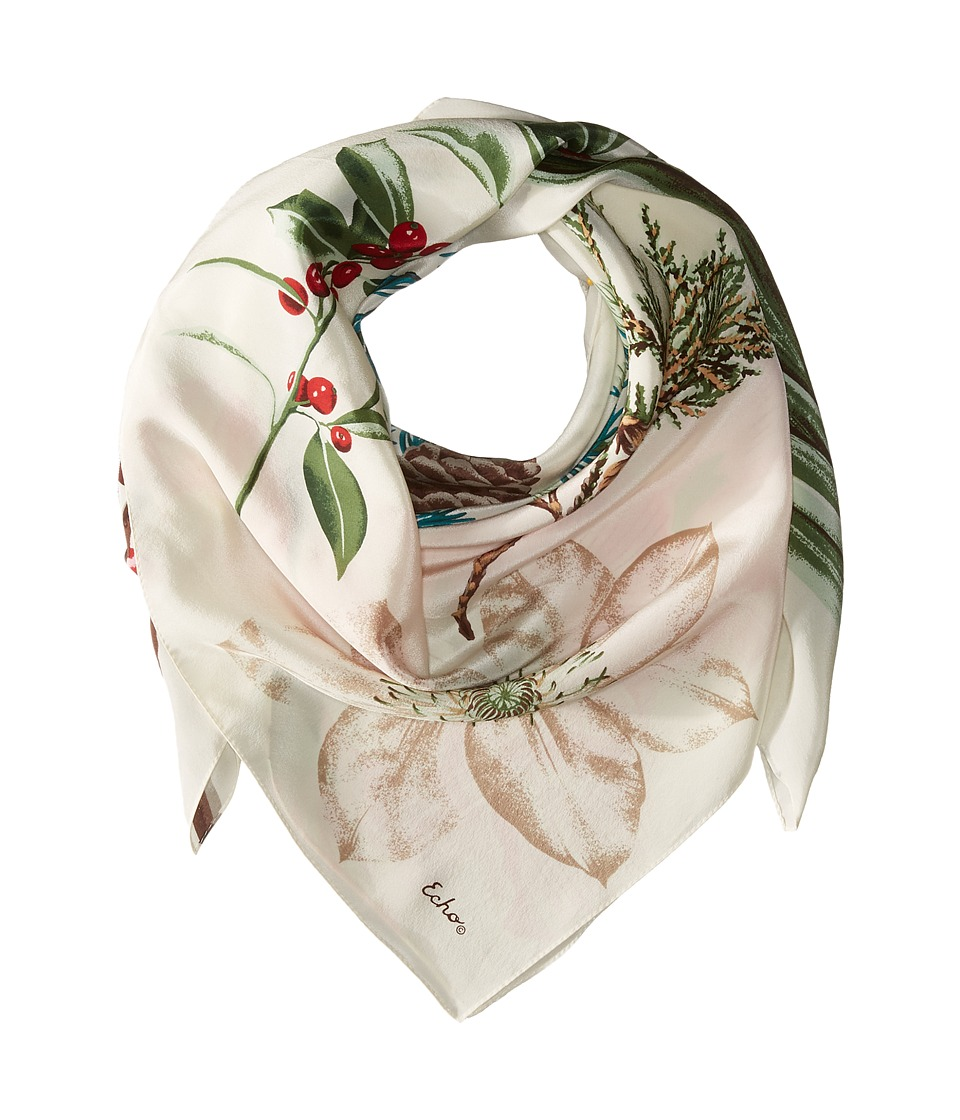 Echo Design - Winter's Frost Silk Square (Cream) Scarves