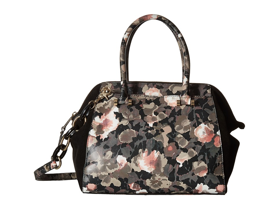 French Connection - Devin Satchel (Floral Camo/Black) Satchel Handbags