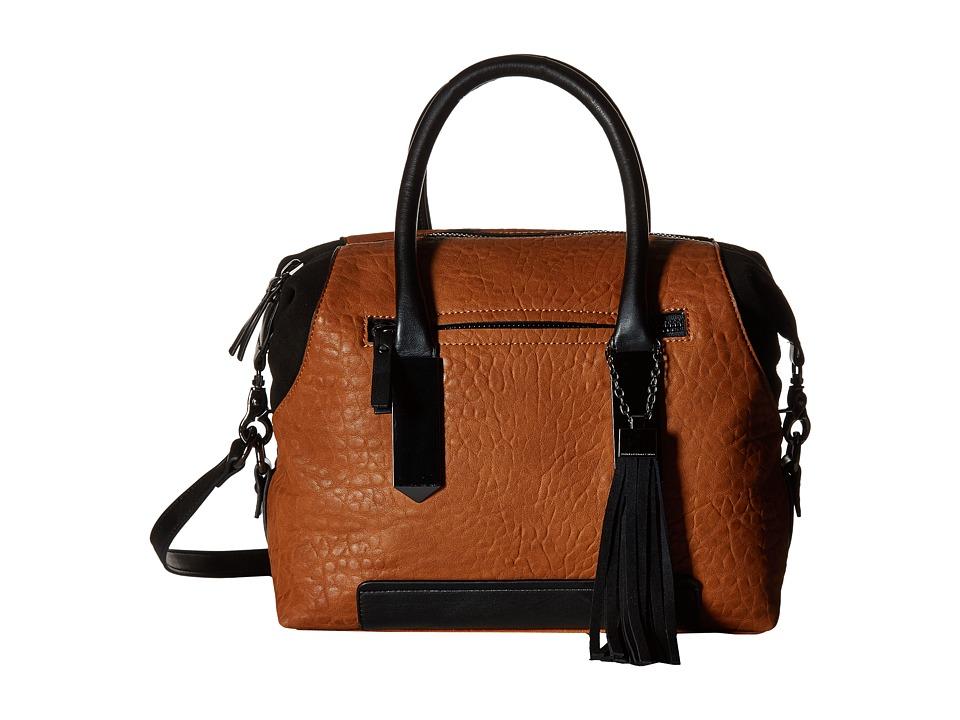 French Connection - Camden Satchel (Nutmeg/Black) Satchel Handbags
