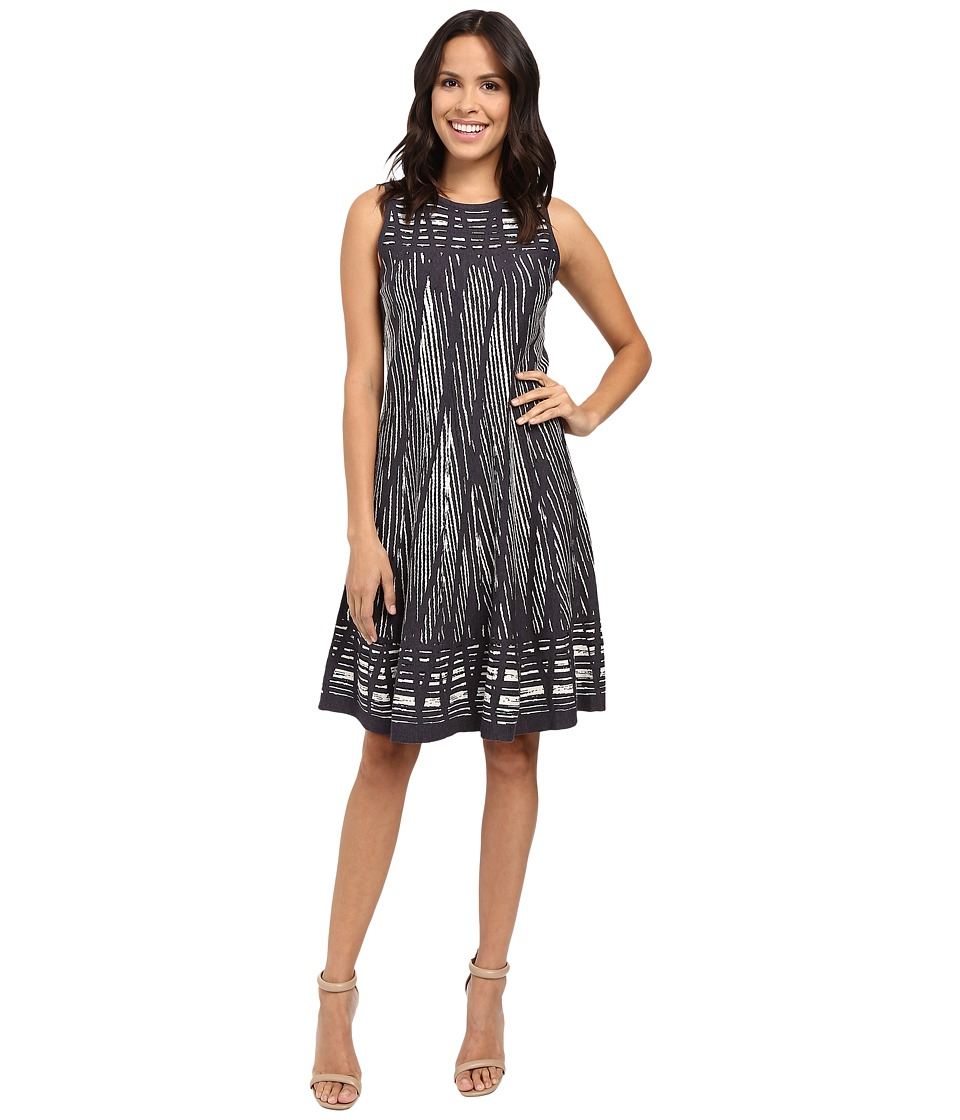 NIC+ZOE Dashed Diamonds Twirl Dress (Multi) Women