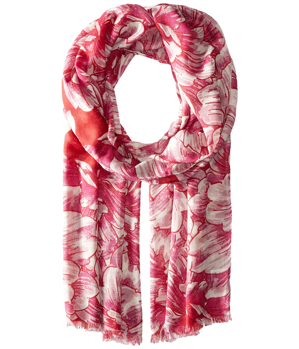 Echo Design - Painted Floral Wrap (Ruby) Scarves