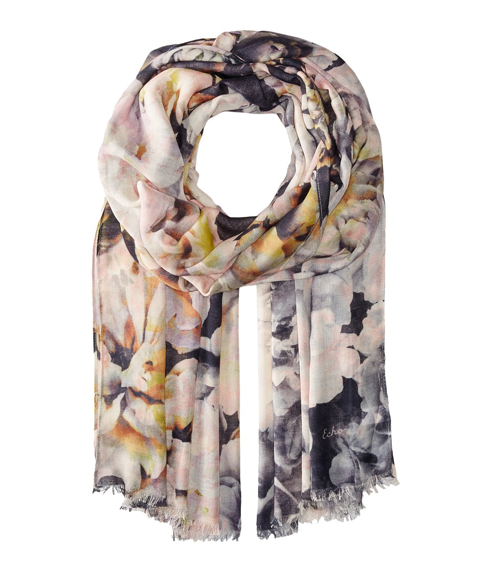 Echo Design - Floral Ombre Wrap (Black) Scarves