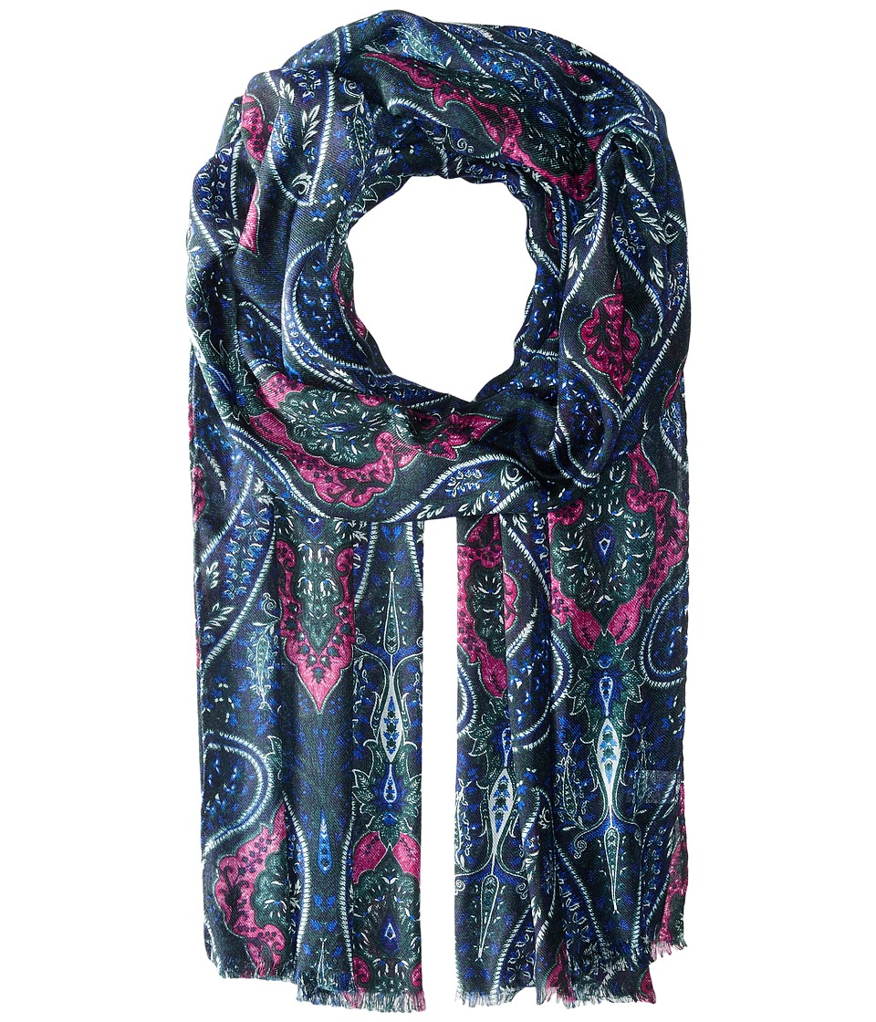Echo Design - Modern Baroque Wrap (Navy) Scarves